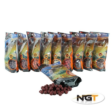 15mm NGT Boilies 500g bag of Spicy Sausage