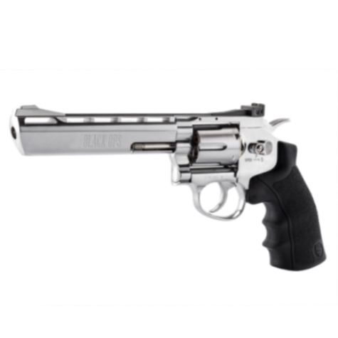 "Black Ops 6"" Barrel Silver CO2 AIR PISTOL Fires 4.5 mm BB'S (BO6SIL4.5) ( 6 shot BB )"