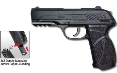 Gamo PT-85 Blowback CO2 powered air pistol .177 Cal. (4,5mm) Pellets