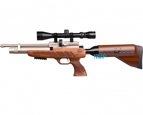 Kral Puncher NP-02 Marine PCP PRE-CHARGED AIR RIFLE .177 calibre 14 shot and free hard case WALNUT STOCK
