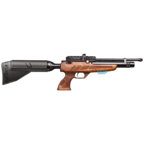Kral Puncher NP-02 Black PCP PRE-CHARGED AIR RIFLE .177 calibre 14 shot and free hard case WALNUT STOCK