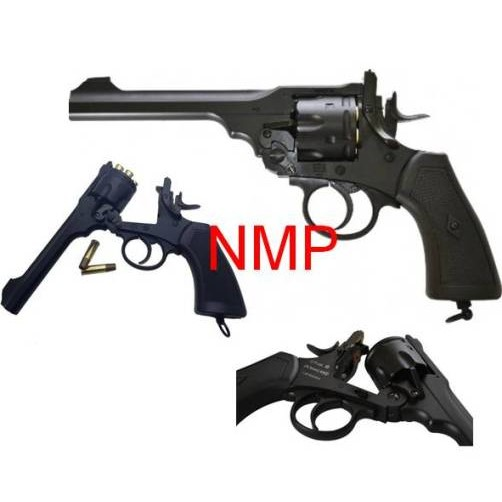 6MM AIRSOFT Pistol Webley MKVI Service Revolver Black CO2 ( 6mm BB .455) kit with pistol bag, co2 and some 6mm bb's